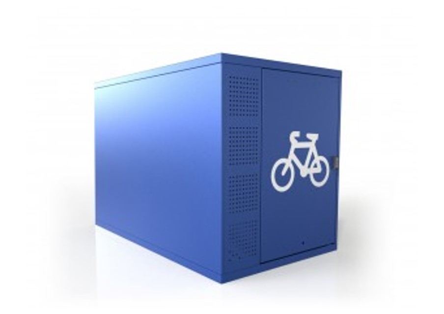 Horizontal Double 2 Bike Locker Galvanized Bsl18d New