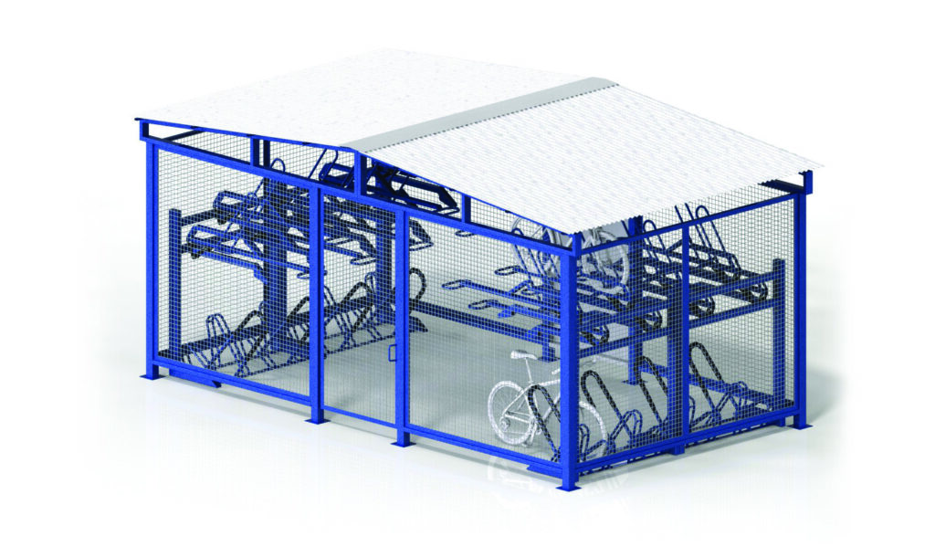 MHBC21 Bike Cages Tiered Storage All