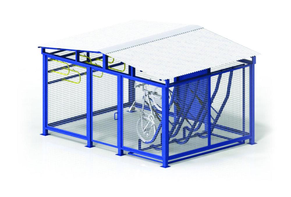 MVBC01 Bike Cage Vertical Storage All Sizes 1024x694