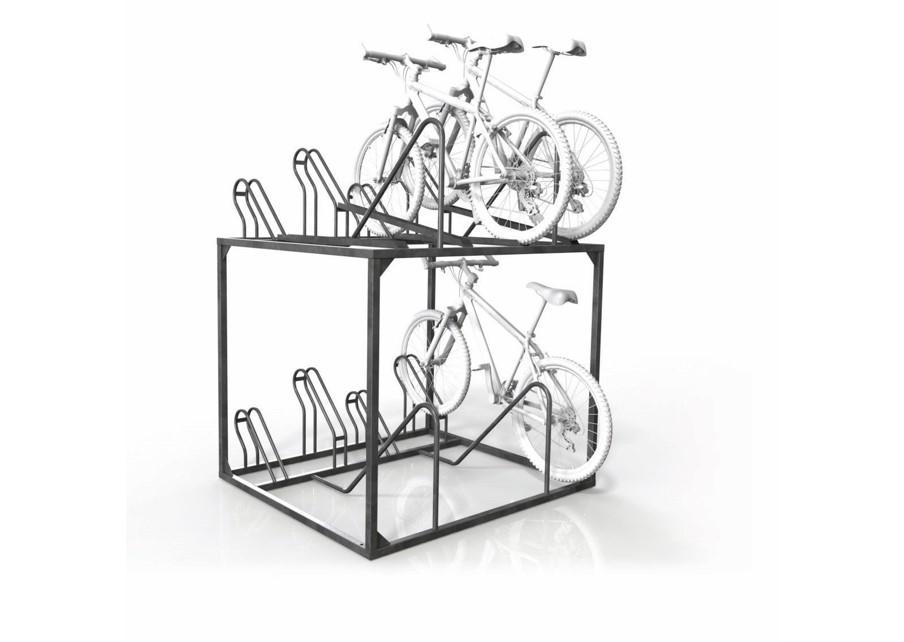 Dual Height Manual 8 Bike Rack Cbr8m New