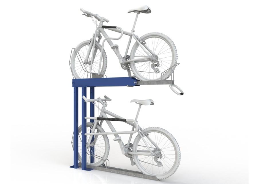 Dual Height With Tilt Ramp 2 Bike Rack Cbr2gs New