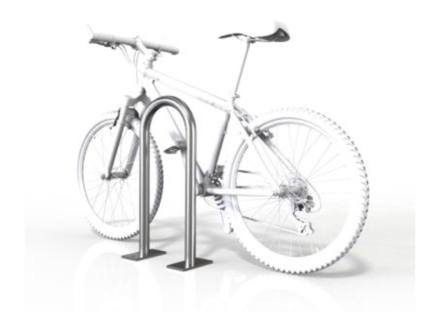 Small 2 Bike Rackbase Plate Mild Steel Br475b